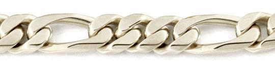 Foto 2, Figarokette massiv Weissgold 46cm 104 Gramm Luxus! Neu!, K2969