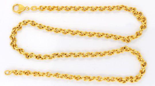 Foto 1, Kette, massiv Gelbgold 585, Karabiner Verschluss Luxus!, K2970