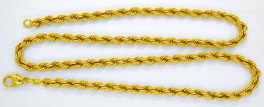 Foto 1, 1A Gelbgold Kordel Kette, Länge 50,3cm 14K/585 Shop Neu, K2971