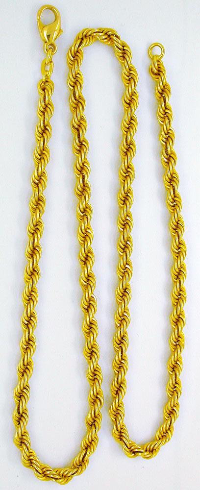 Foto 2, 1A Gelbgold Kordel Kette, Länge 50,3cm 14K/585 Shop Neu, K2971