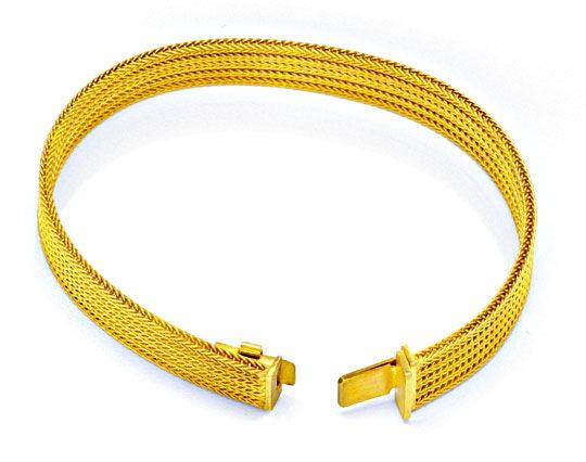 Foto 1, Feines Gelbgold Flecht Armband 18K/750 Luxus! Nagelneu!, K2976