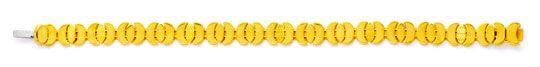 Foto 1, Designer Gold Armband, 18K Sicherheitsbügel Luxus! Neu!, K2978