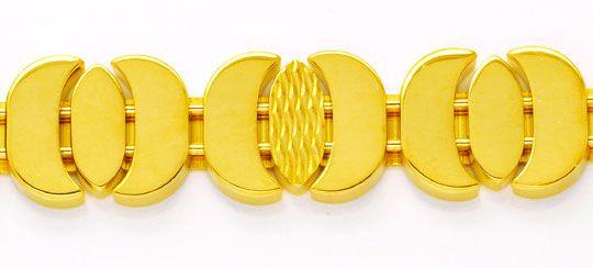 Foto 2, Designer Gold Armband, 18K Sicherheitsbügel Luxus! Neu!, K2978