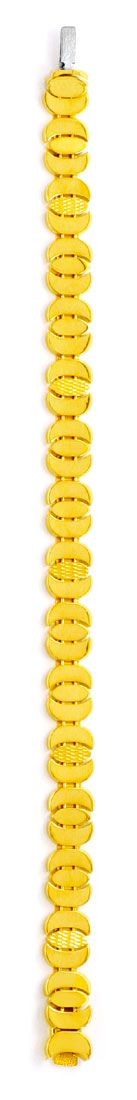Foto 3, Designer Gold Armband, 18K Sicherheitsbügel Luxus! Neu!, K2978