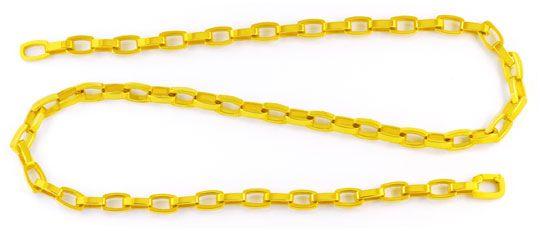 Foto 1, Designer Kette massiv Gelbgold Tonneaux 18K Luxus! Neu!, K2979