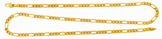 Foto 1, Figaro Goldkette massiv Gelbgold 50 cm 14K/585 Shop Neu, K2980
