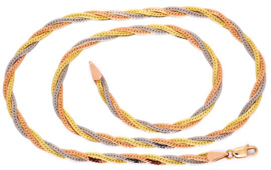 Foto 1, Goldkollier Gelbgold Rotgold Weissgold 14K/585 Shop Neu, K2983