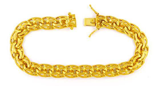 Foto 1, Garibaldi Armband, massiv Gelbgold 14K/585, Luxus! Neu!, K2985