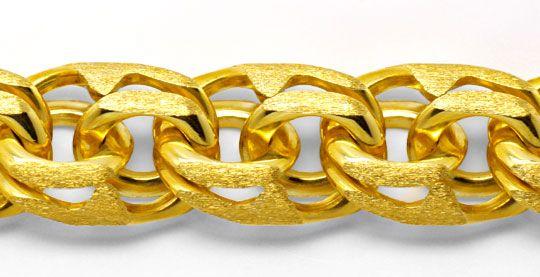 Foto 2, Garibaldi Armband, massiv Gelbgold 14K/585, Luxus! Neu!, K2985