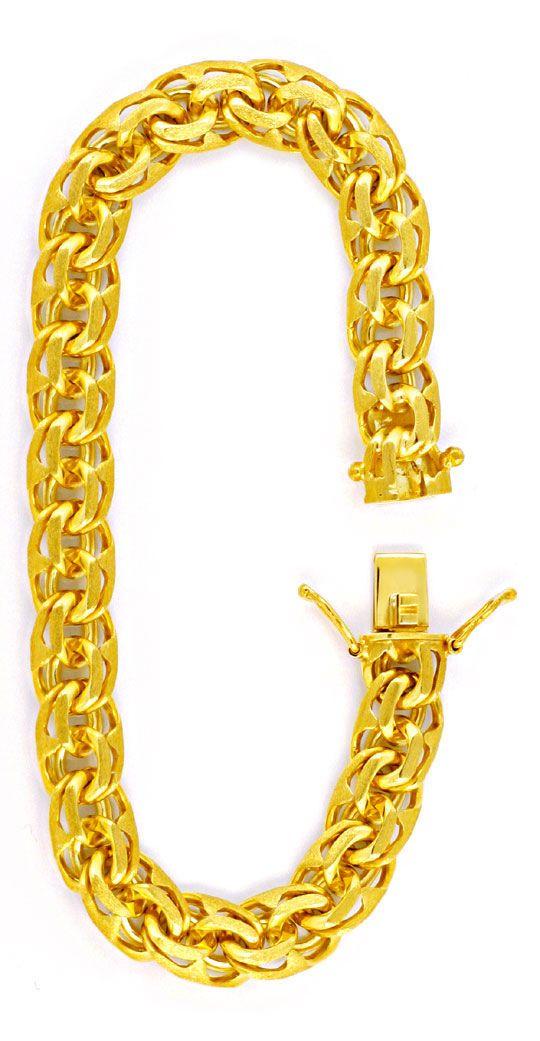 Foto 3, Garibaldi Armband, massiv Gelbgold 14K/585, Luxus! Neu!, K2985