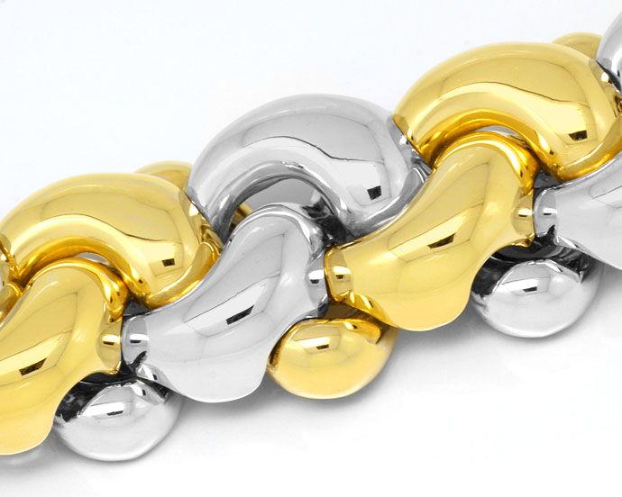 Foto 2, Sensationelles Designer Goldarmband 109G 18K750 Schmuck, K2988