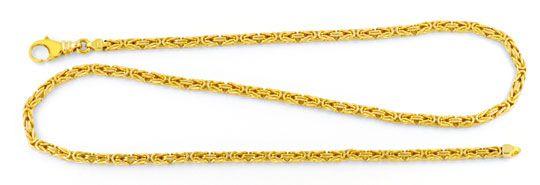 Foto 1, Königskette massiv 14K Gelbgold, Karabiner, Luxus! Neu!, K2994