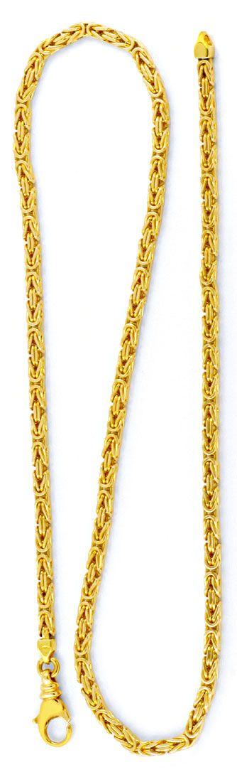 Foto 2, Königskette massiv 14K Gelbgold, Karabiner, Luxus! Neu!, K2994