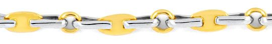 Foto 2, Designer Bicolor Kette massiv, Ähnlich Haferkorn Luxus!, K2999