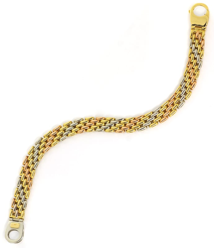 Foto 4 - Armband Backstein Muster 18K Gelbgold Weissgold Rotgold, K3165