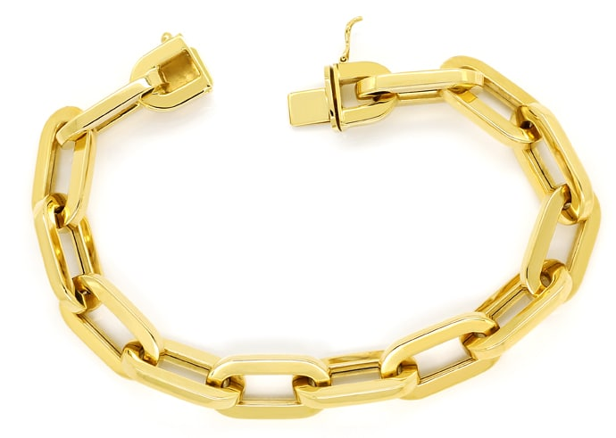 Foto 1 - Gelbgold Armband im Anker Muster auch als Bettelarmband, K3170