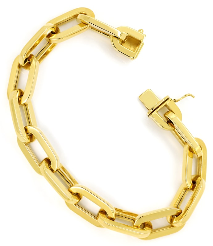Foto 2, Gelbgold Armband im Anker Muster auch als Bettelarmband, K3170
