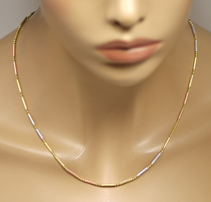 Foto 4, Design Goldkette Goldcollier Gelbgold Rotgold Weissgold, K3240