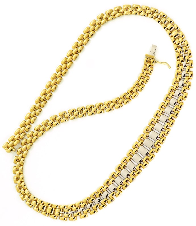 Foto 4 - Set Goldcollier und Goldarmband 18K Bicolor Gold, K3344