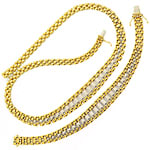 Set Goldcollier und Goldarmband 18K Bicolor Gold