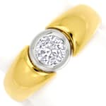 Goldbandring 0,50ct Top Wesselton Brilliant Solitär 18K