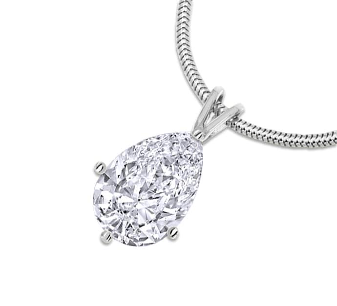 Foto 1, 1,20 River D Lupenrein Diamant Tropfen Kollier Weißgold, Q0041