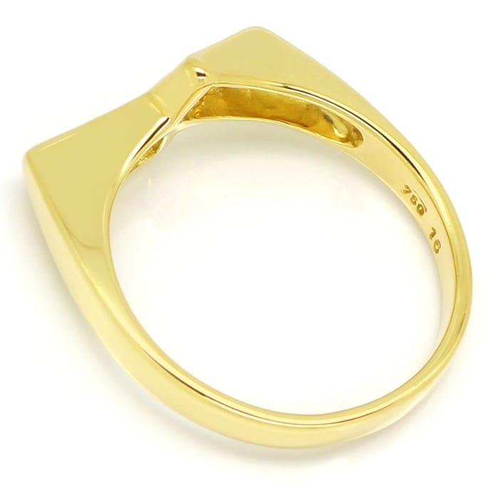 Foto 3, Diamantring mit Trapez und Baguette Diamanten, Gelbgold, Q0068