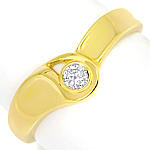 Diamantring mit 0,09ct Brillant Solitär in 14K Gelbgold