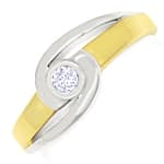 Diamantring 0,08ct Top Wesselton Brillant Solitär 585er