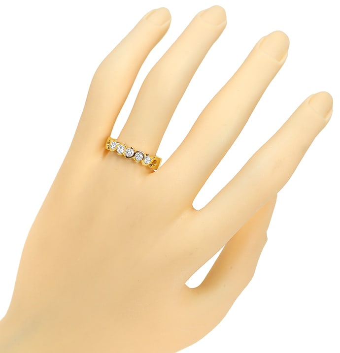 Foto 4, Allianzring Diamanthalbmemoryring mit 0,38ct Brillanten, Q0106