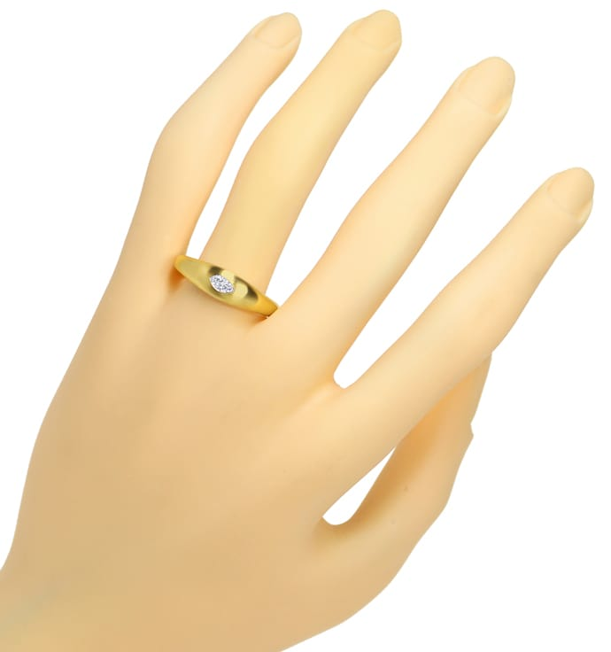 Foto 4, Diamantbandring mit 0,18ct River Diamant Navette in 18K, Q0143