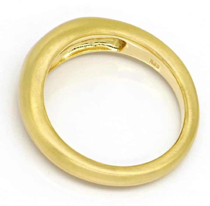 Foto 3, Gold Ring Diamant 0,30ct F lupenrein Schiffchen Schliff, Q0146