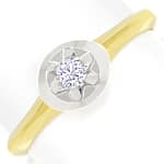 Diamantring mit 0,10 Carat Brillant Solitär in 14K Gold
