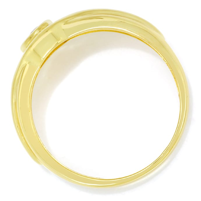 Foto 3, Designer Diamanten Bandring 0,40ct Super Rubin 14K Gold, Q0261