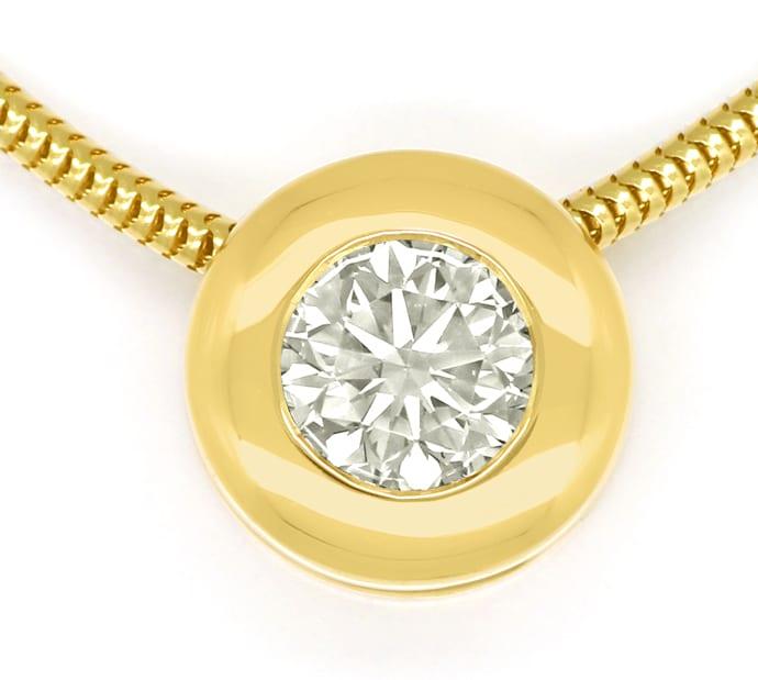 Foto 2, Diamantkollier Kette mit Brillantgleiter 0,50ct IGI 18K, Q0387