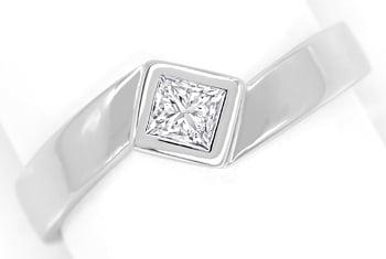 Foto 1, Ring mit 0,28ct River Lupenrein Diamant in 18K Weißgold, Q0429