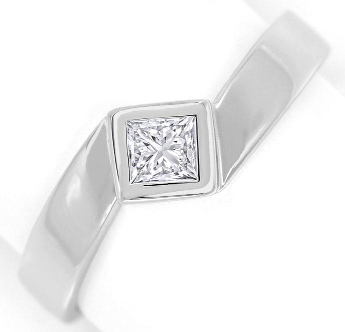 Foto 2, Ring mit 0,28ct River Lupenrein Diamant in 18K Weißgold, Q0429