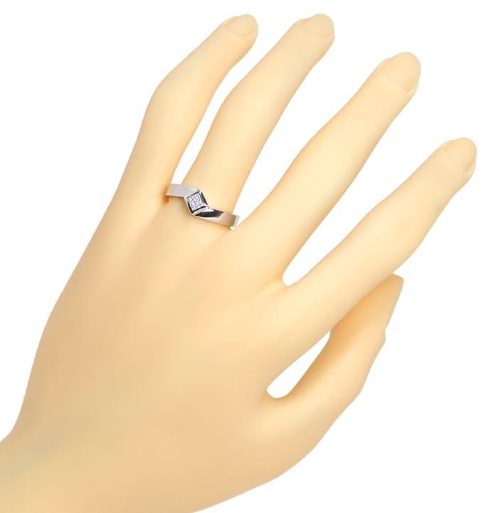 Foto 4, Ring mit 0,28ct River Lupenrein Diamant in 18K Weißgold, Q0429