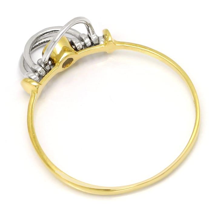Foto 3, Saphir Ring mit beweglichen Teilen sehr zierlich in 14K, Q0458