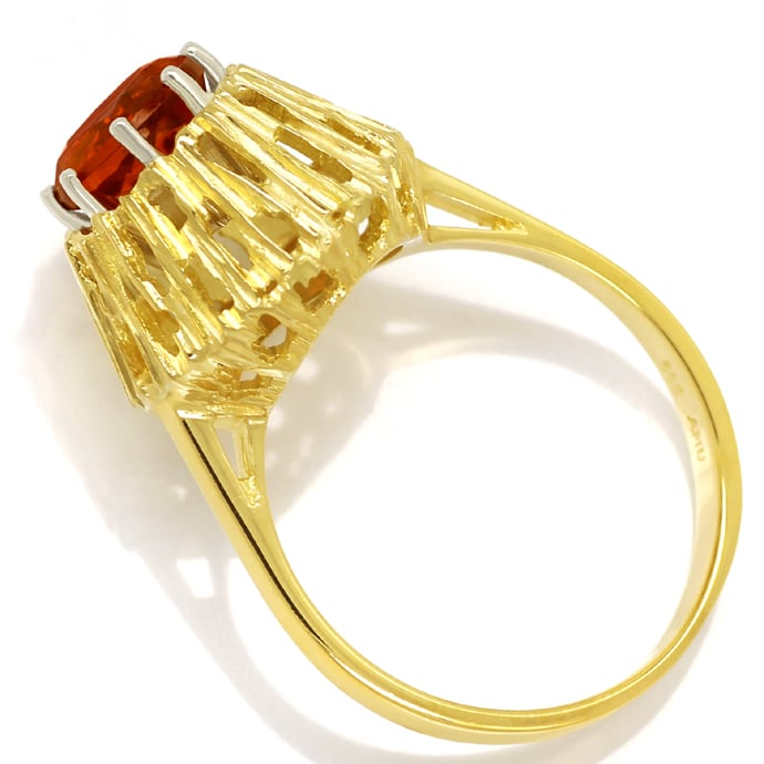 Foto 3, Damen Ring mit 1,6ct Spitzen Madeira Citrin in 14K Gold, Q0461