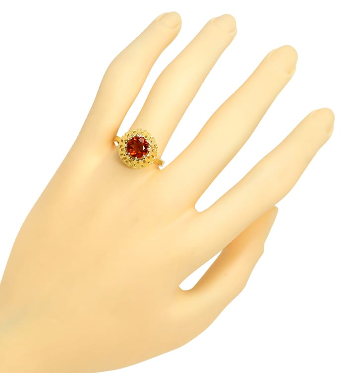 Foto 4, Damen Ring mit 1,6ct Spitzen Madeira Citrin in 14K Gold, Q0461