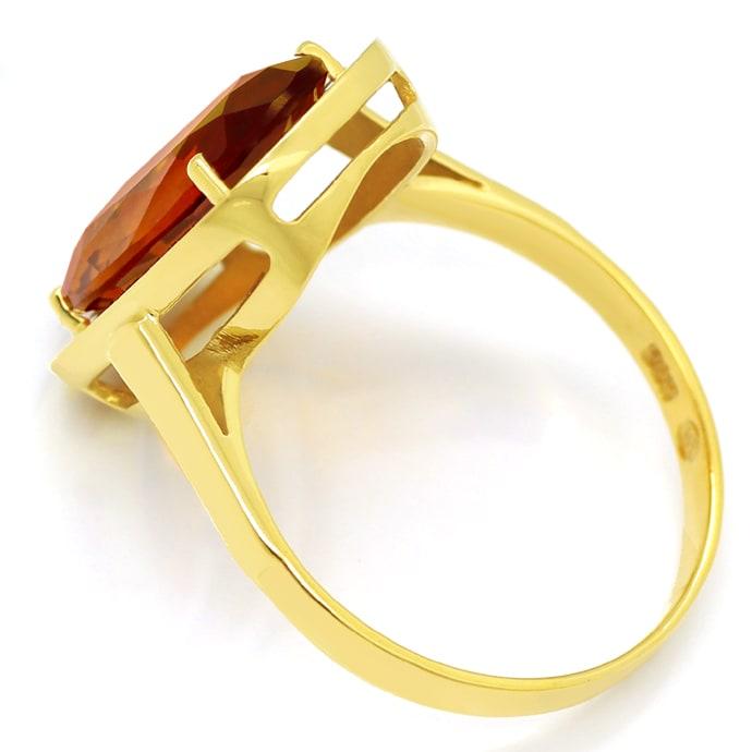 Foto 3, Madeira Citrin oval 3,4ct in Damenring aus 14K Gelbgold, Q0479