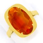Madeira Citrin oval 3,4ct in Damenring aus 14K Gelbgold