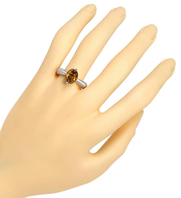 Foto 4, Edler Designer Diamantring 3,02ct Diamant IGI Expertise, Q0507