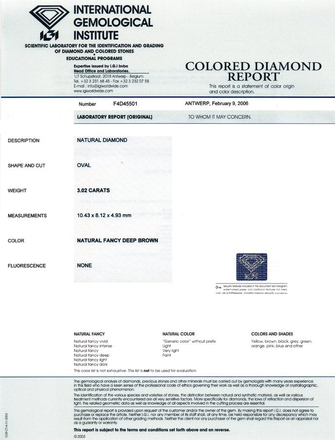 Foto 9, Edler Designer Diamantring 3,02ct Diamant IGI Expertise, Q0507