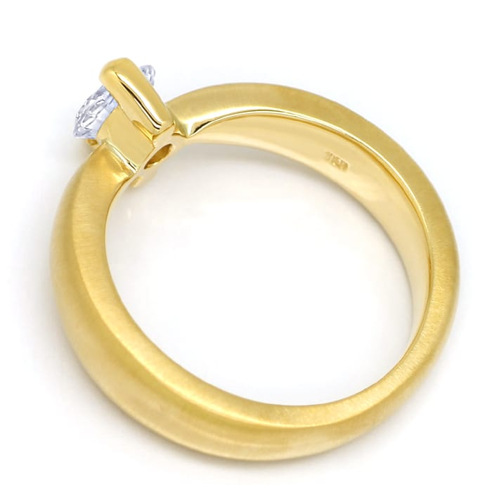 Foto 3, Diamantring mit 0,66ct Brillant Solitär massiv Gelbgold, Q0531