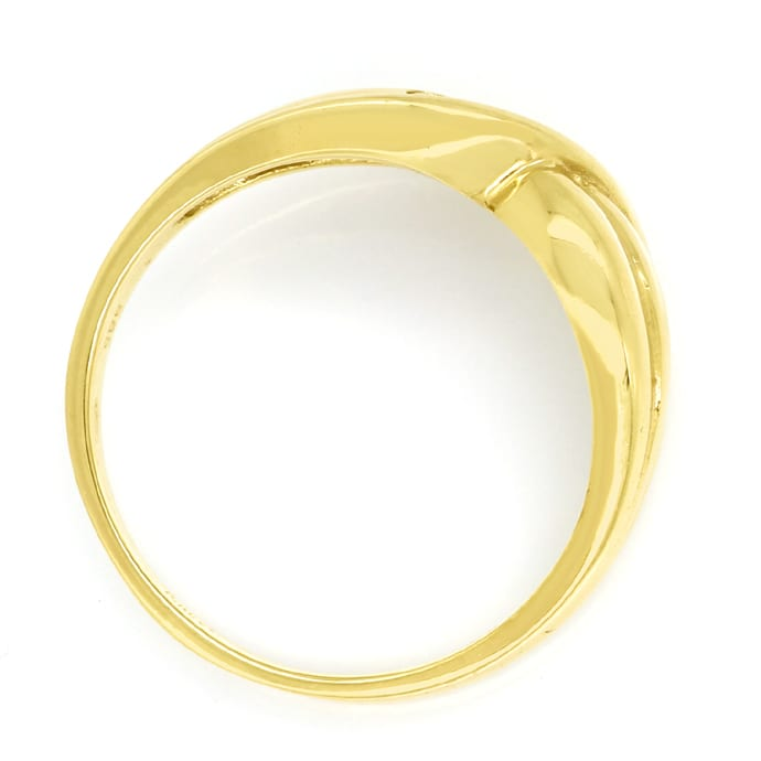 Foto 3, Diamantenbandring geschweift mit 4 Brillianten Gelbgold, Q0638