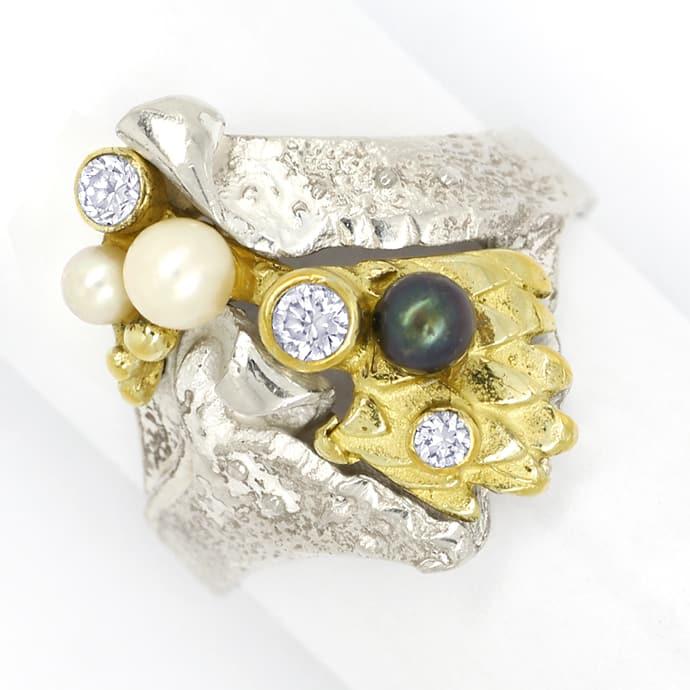 Foto 3, Schmuckset Ring Ohrringe Armreif Kette Anhänger Brosche, Q0706