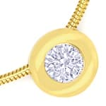 Diamantkollier mit 0,39ct Brillant Solitär 18K Gelbgold