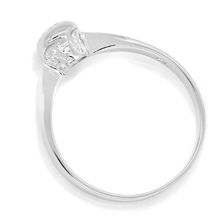 Foto 3, Diamantring mit 0,10ct Brillant Solitär in 14K Weißgold, Q0800